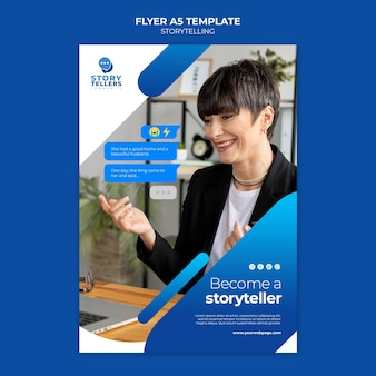 Storytelling for marketing print template