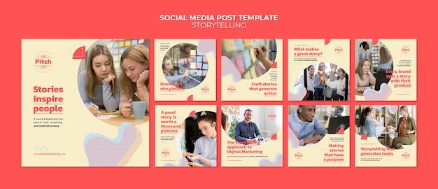 스토리 텔링 소셜 미디어 게시물