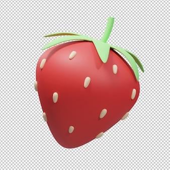 딸기 3d 그림