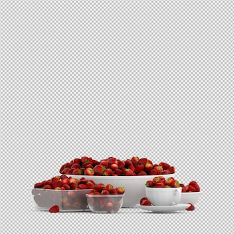 Strawberry 3d render