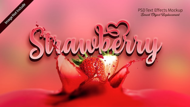 Strawberry 3d text effect