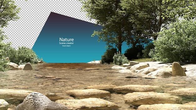Ручьи и прибрежные растения окружающая среда ручья отсечения путь