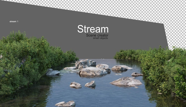 Streams and riverside plants