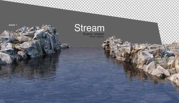 Streams and riverside plants Premium Psd