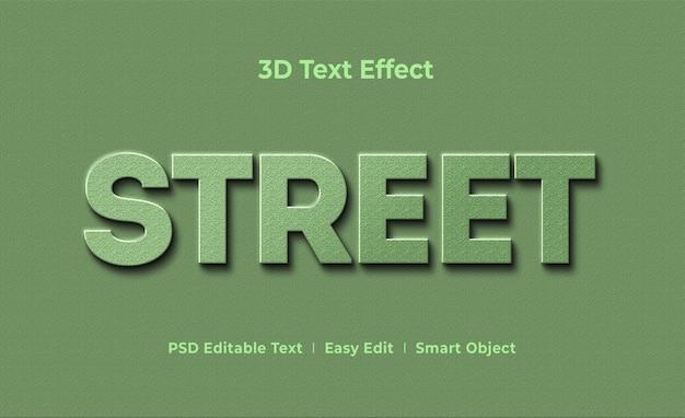 Street 3d text effect mockup template