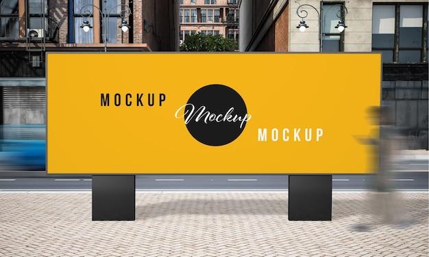 Street advertising billboard mock up