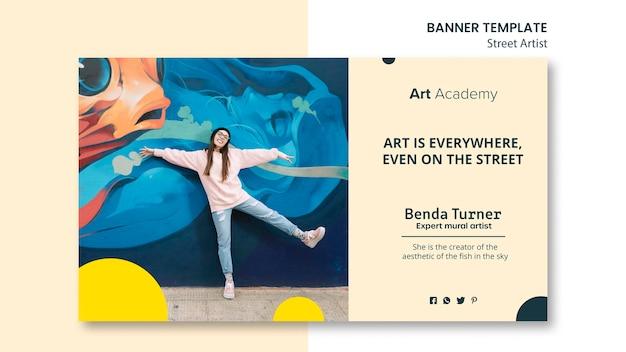 Modello dell'insegna di concetto dell'artista di strada