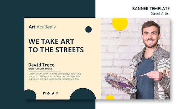 Street artist concept banner template