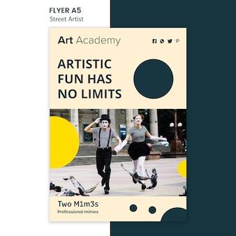 거리 예술가 개념 전단지 서식 파일