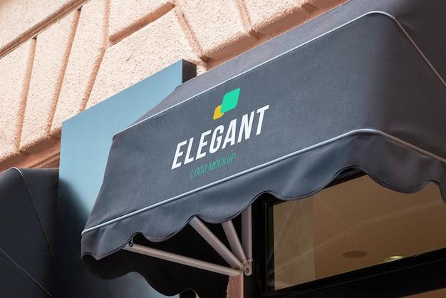 Макет логотипа уличного тента
