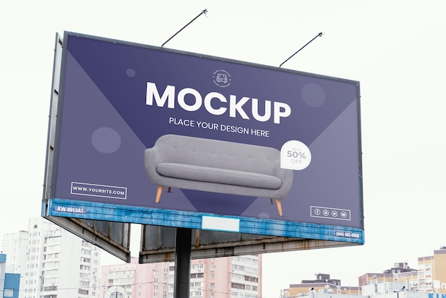 야외 거리 광고판 디스플레이 모형