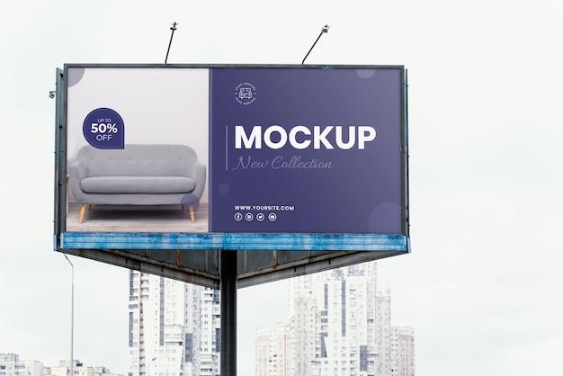 Street billboard display mock-up outdoors