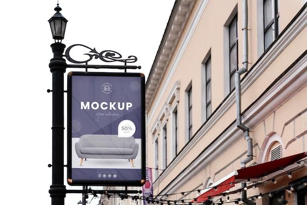 Street billboard display mock-up outside