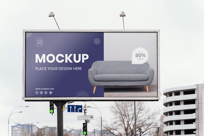 Макет уличного рекламного щита