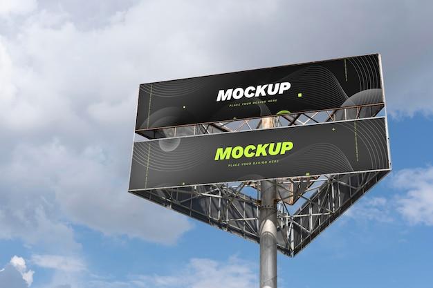 판촉을 위한 거리 광고판 목업