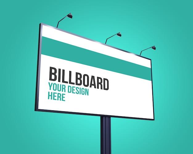 Макет street billboard