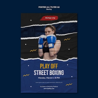 Street boxing  flyer template