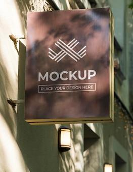 ストリートビジネスサインのモックアップ