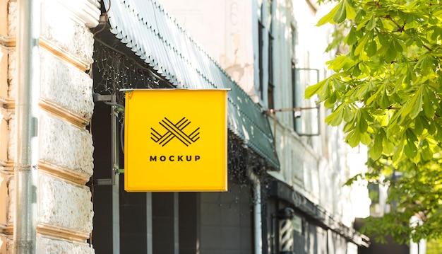 Street business sign mock-up