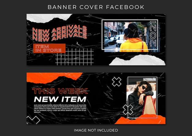 Street fashion facebook cover and web banner template