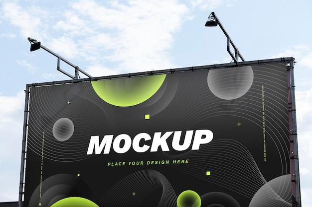 Mock-up di cartelloni pubblicitari di street marketing
