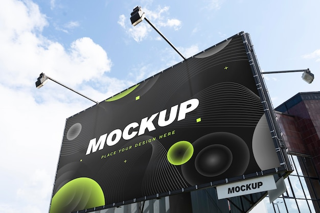 Street marketing billboard mock-up