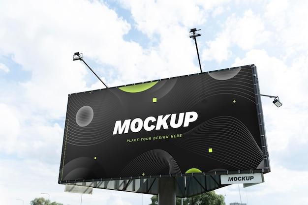 거리 마케팅 광고판 목업