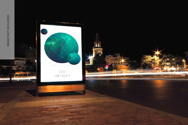 Street mupi billboard mockup