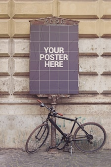 Street poster vertical mockup