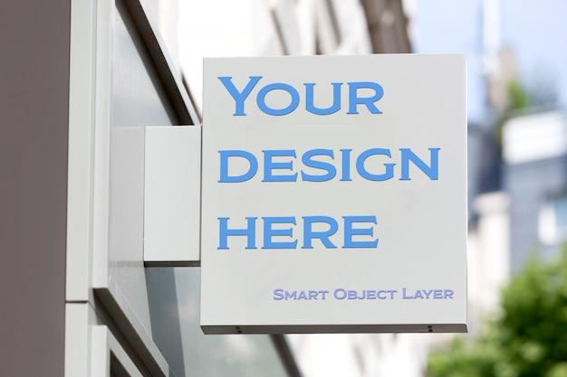 Street sign logo mockup