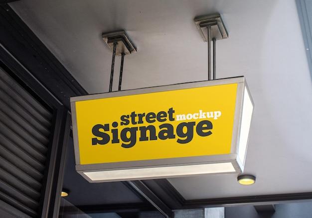 Street signage mockup design