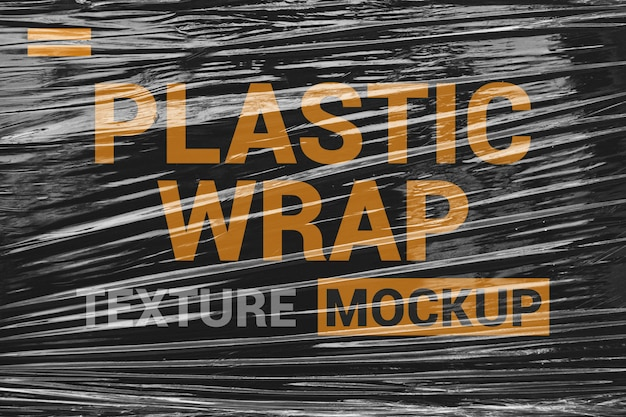 Stretch plastic wrap film mockup