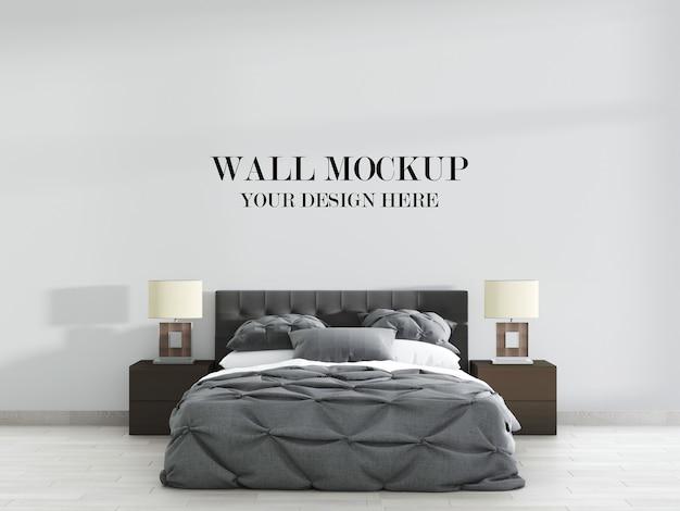 Строгий современный макет стены спальни