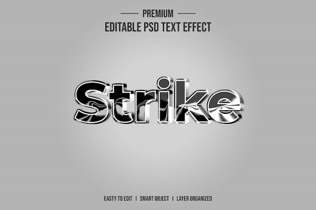 Strike 3d эффект стиля текста