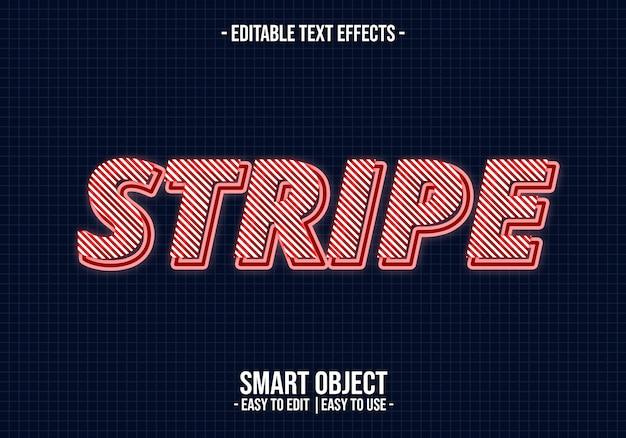 Эффект стиля текста в полоску