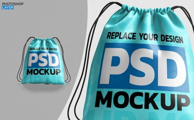 Stripes bag mockup 3d rendering design