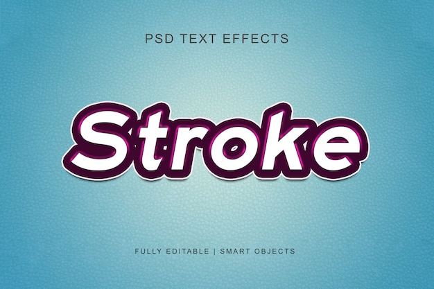 Stroke graphic style text effect