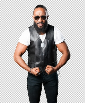 Strong black man