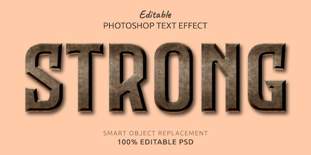Strong editable text style effect