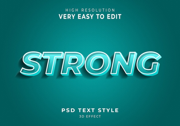 Сильный современный текстовый эффект