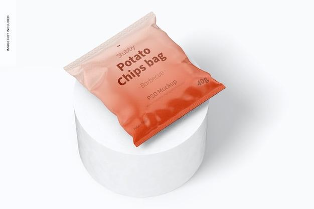 Мокап с короткой сумкой для чипсов