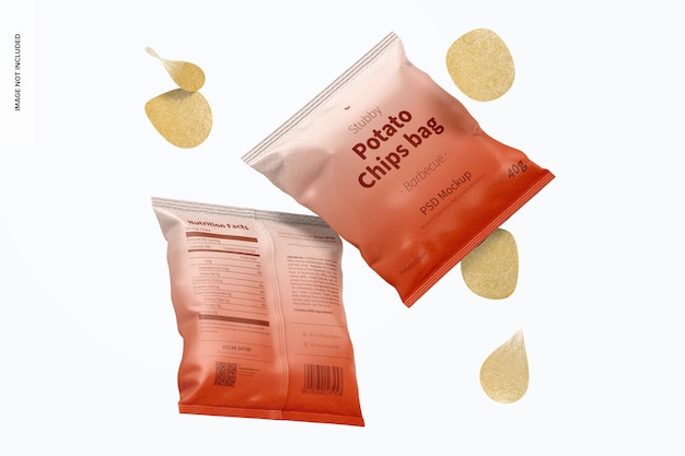 Stubby chips bags mockup