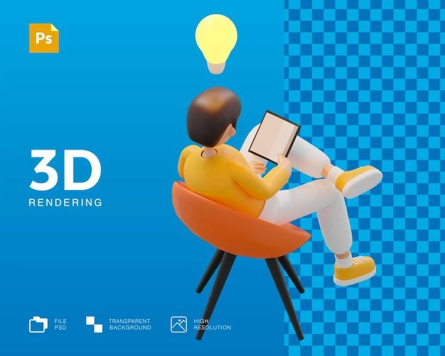 Студент человек персонаж ищет знания образование дизайн