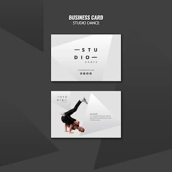 Studio dance business card template