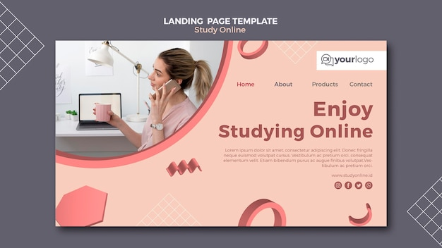 Study online landing page style