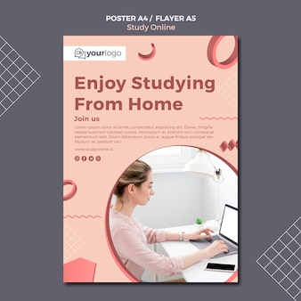 Study online poster template