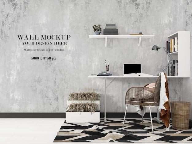 Дизайн макета стены кабинета
