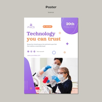 Studying science poster template