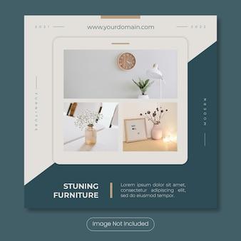 Stuning furniture  instagram post banner template