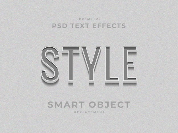 Style 3d photoshop layer style text effects